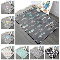Nordic Geometric Arrow Living Room Carpet Kids Room Antiskid Rug Rectangle Stars Bedroom Sofa Mats Coffee Desk Carpets