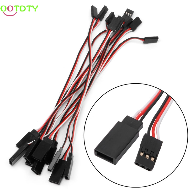 10Pcs 150mm Lead Extension Servo Wire Cable Cord For Futaba JR Male To Female