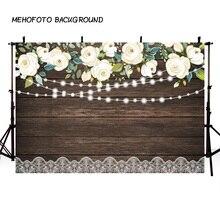 Фотостудия Винтаж деревянная доска тропические растения цветы блеск фон для фотосъемки свадебные дети фотосессия