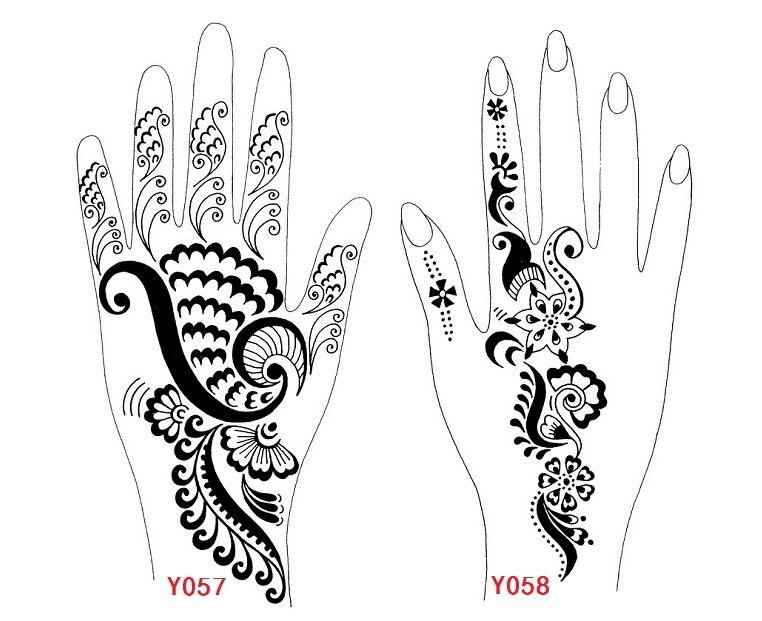 Henna Tattoo Vorlagen Für Die Hand gallery - zalaces ...