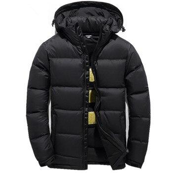 Men's Down Jacket Warm White Duck Winter Coat Hooded Mens Waterproof windbreak Male Casual hoodie Jacket Coat