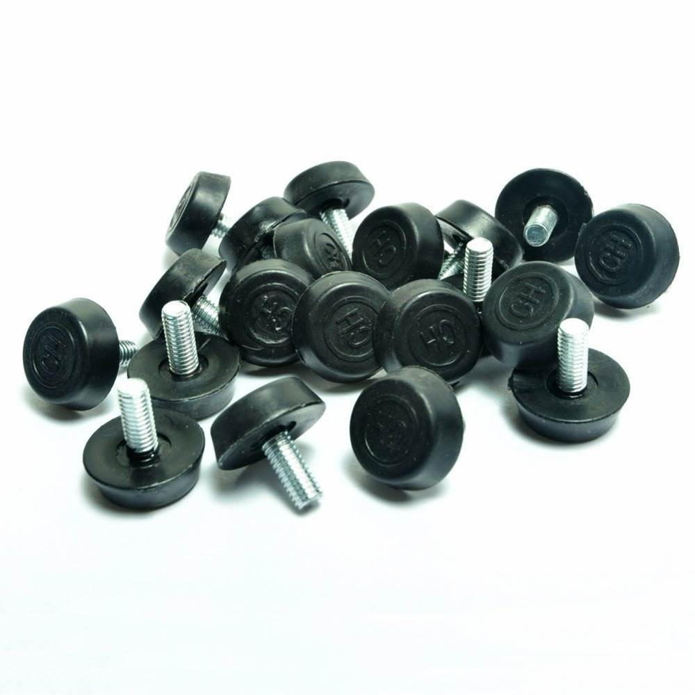 Furniture-Legs Leveling Screw-On Foot-Adjuster for M6x12mmx20mm 20-Pcs
