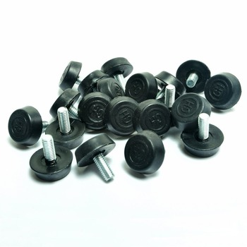 Screw On Furniture Glide Leveling Foot Adjuster for Legs M6x12mmx20mm 20 Pcs - discount item  30% OFF Furniture Parts