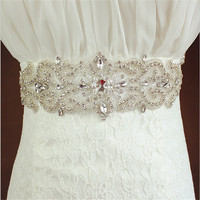 Cristal mulheres cós elástico compoteira ceinture femme strass strass nupcial do casamento sash Vestido De pacotes ampla corset cinto