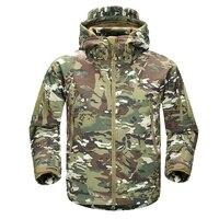 2018 Men's Winter Military Camouflage Fleece Jacket Army Tactical Jacket Coat Multicam Male Camouflage Waterproof Windbreakers