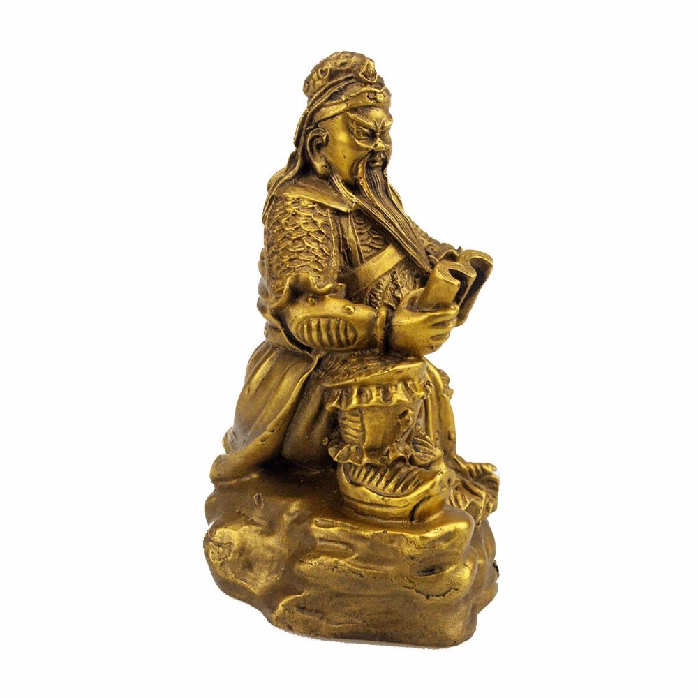 FengShui Brass Read The Book GUAN GONG Figurines/guan gong/GUANGONG