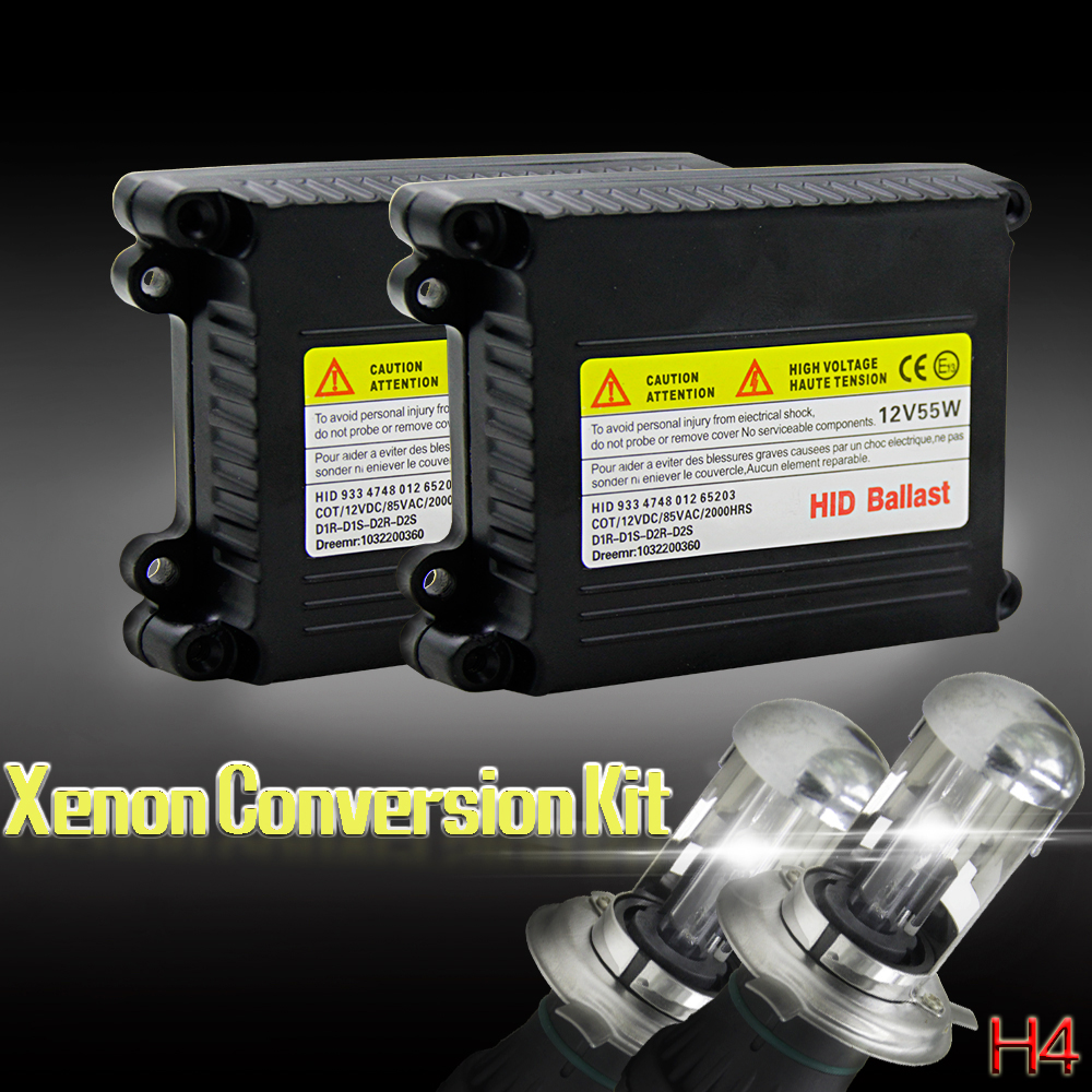 55W Xenon Light Bulb Kit HID Conversion Kit H1 H3 H11 9006 9005 9004 9007 880 H13 H4 Car Headlight Bulb 3000k 4300k 6000k 12000k in Car Headlight Bulbs Xenon from Automobiles Motorcycles
