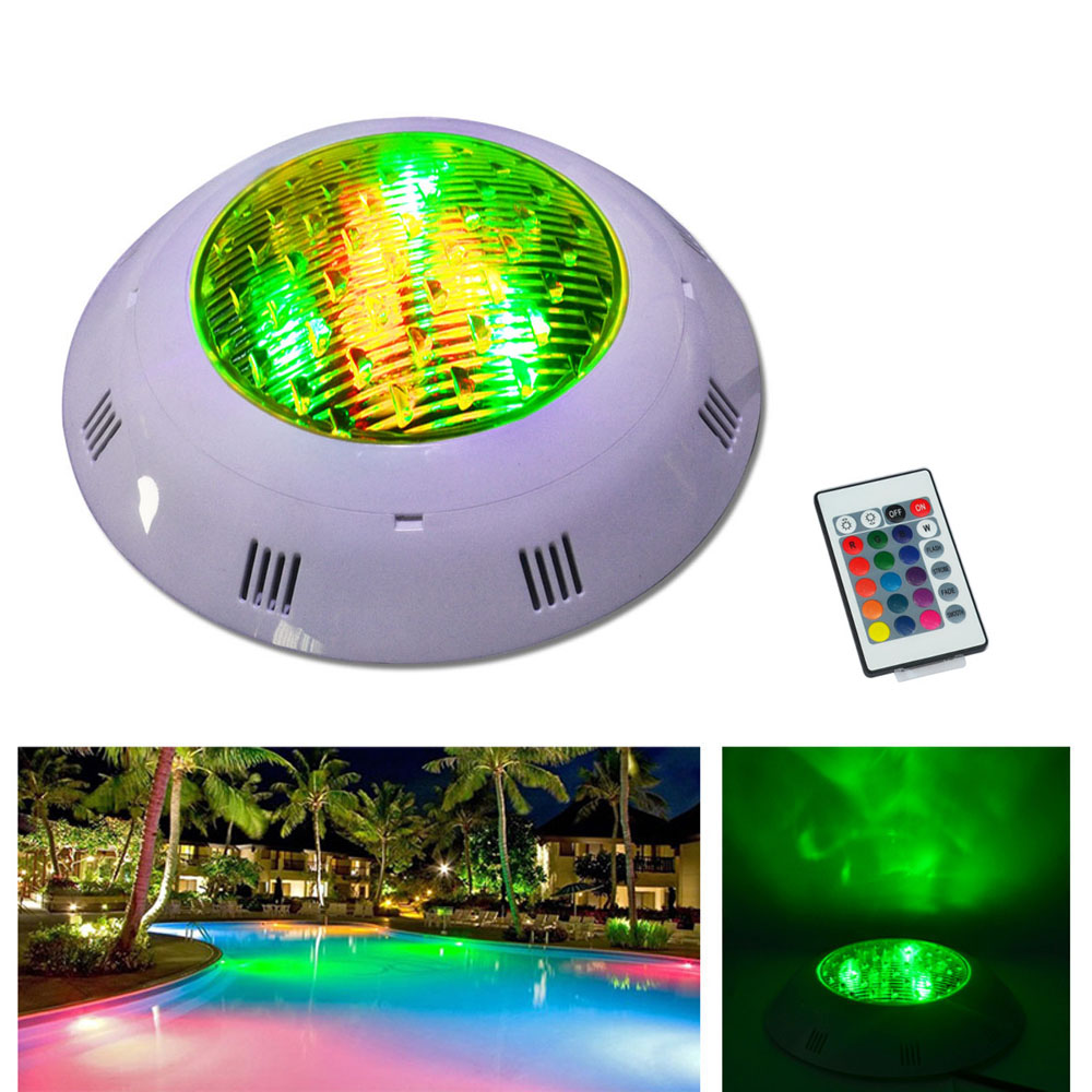 Jiawen 9W 12W RGB Round LED Underwater Light IP68 Swimming Pool Fountain Spotlight Lamp with Remote Control AC 12 - 24V
