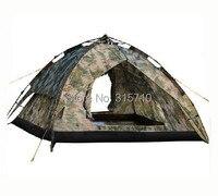 3-4persons camuflagem automático barraca de acampamento da família/Fácil de instalar ao ar livre camuflagem tenda
