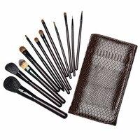 Pro 12pcs Makeup Brushes Set High Quality Powder Contour Concealer BB Cream Beauty Cosmetic Tools Goat