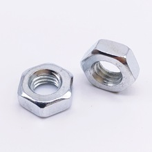 M8 hex nuts galvanized carbon steel nuts 200 pieces