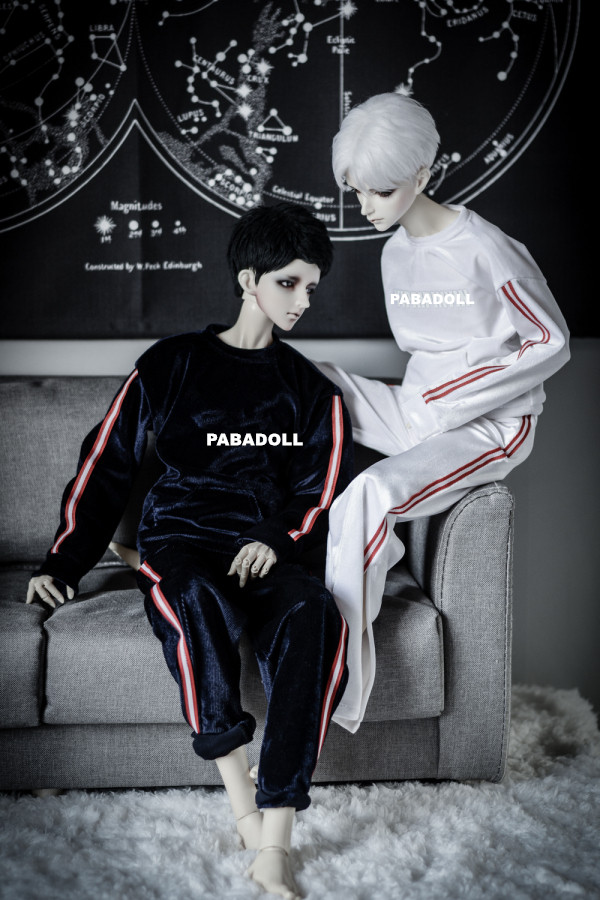Gold Velvet Sports Suit 2colors for BJD 1/4 MSD 1/3 SD10 SD17 Uncle Doll Clothes Accessories CMB110 new handsome fashion stripe black gray coat pants uncle 1 3 1 4 boy sd10 girl bjd doll sd msd clothes