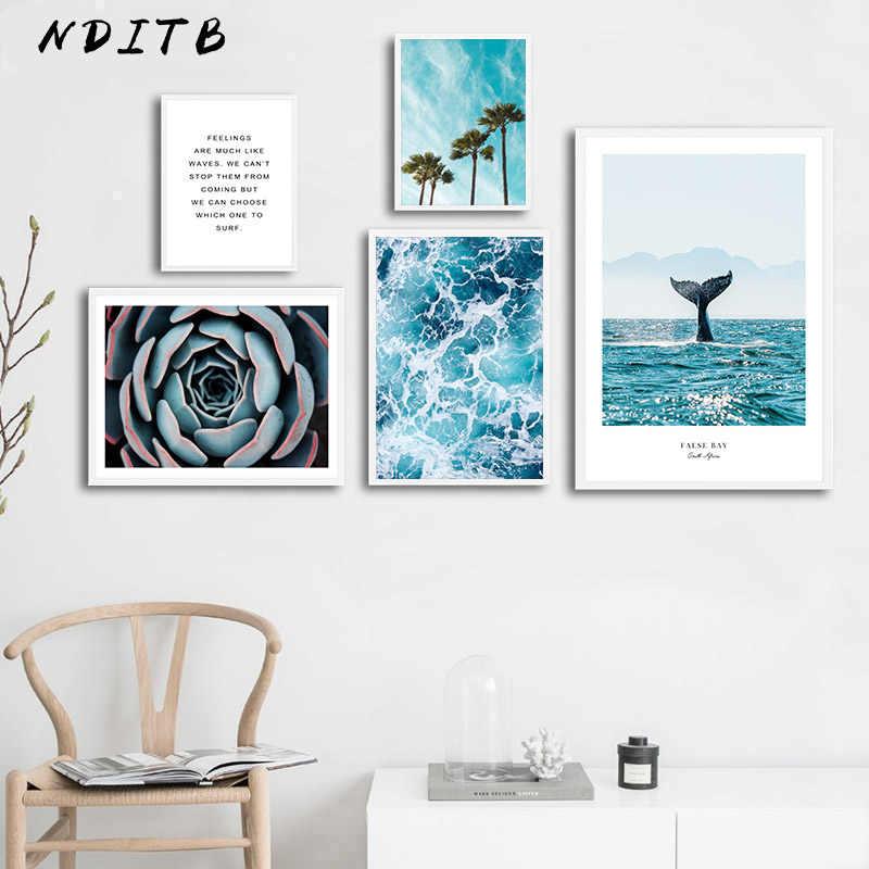 صورة إسكندنافية لصور المحيط النباتات العصارية مشهد الشمال جدار الفن قماش طباعة اللوحة الحديثة ديكور غرفة المنزل