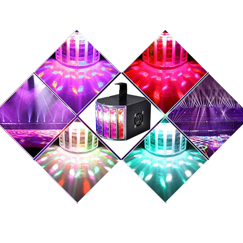 Led Disco Light 18W DMX 512 DJ RGB LED Party Lights Sound Actived Remote Control Disco Lamp Color Changing Stage Lamp Wedding in Stage Lighting Effect from Lights Lighting