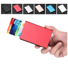 Credit Card Holder Aluminium Alloy Id Card Holder Anti Rfid Blocking Bank Card Holder ID Bank Card Case Rfid Protection 2016 new aluminium alloy employee worker id card holder with lanyard