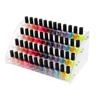 4 Tier Transparent Nail Polish Display Rack Removable Acrylic Cosmetic Storage Holder Drawer Nail Polish Organizer