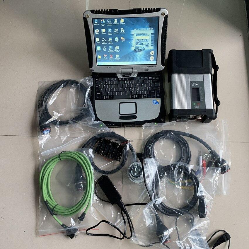 Super Star MB C5 SD Conectar com laptop cf19 Toughbook diagnóstico PC com o mais novo software mb estrela c5 2019.05 hdd sd para c5