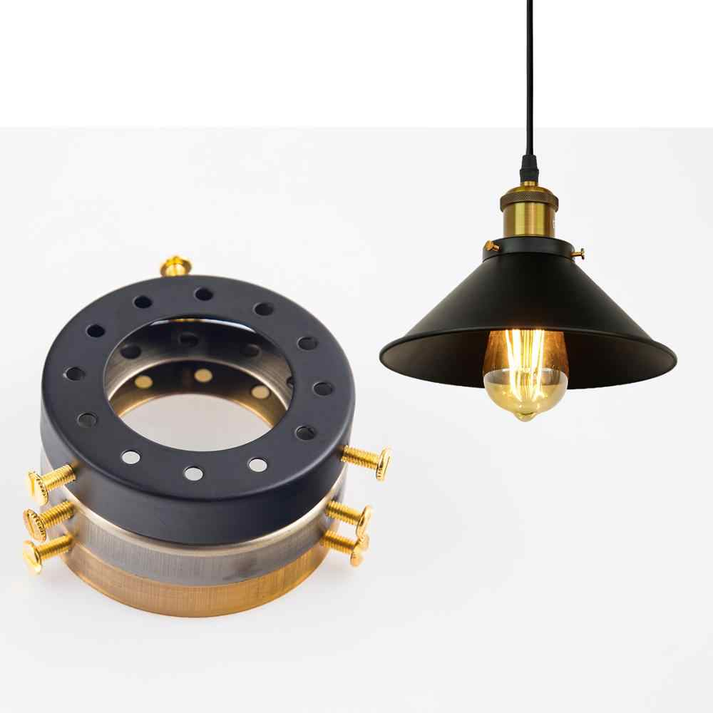 ZhaoKe Solid Brass Lamp Holder Accessories for Chandeliers Edison Industrial Vintage Multihole Cap e27 Lamp Base pendant light