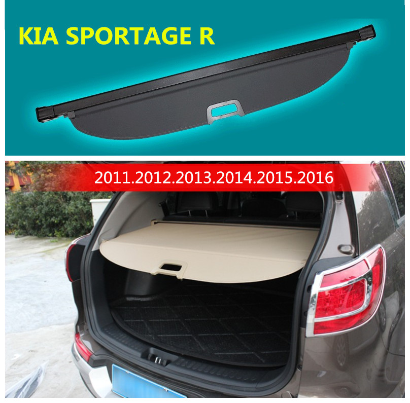 Car Rear Trunk Security Shield Cargo Cover For KIA SPORTAGE R 2011.2012.2013.2014.2015.2016 High Qualit Auto Accessories
