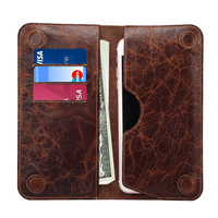 Top Quality Genuine Leather Case For IPhone 7 Plus 6 6s Plus Wallet Case Stand Magnetic