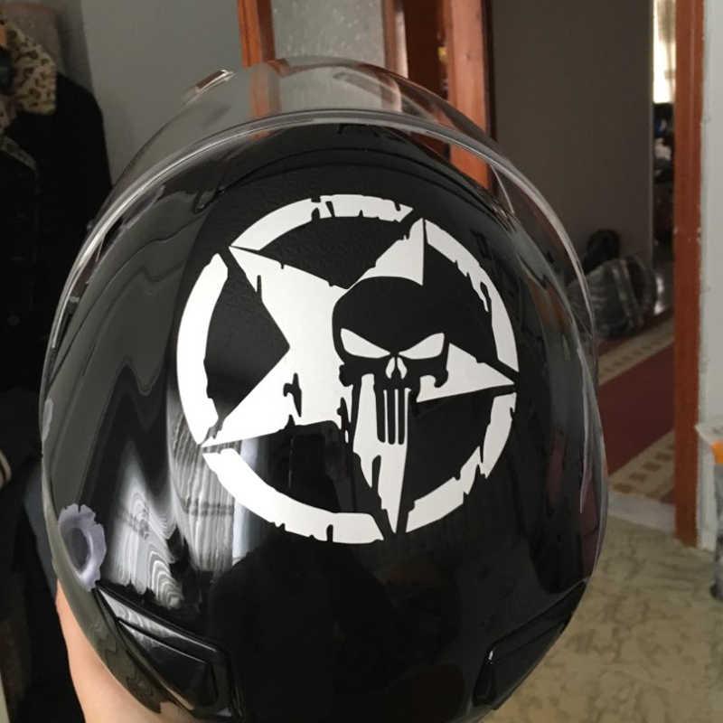 13*13 Cm untuk Punisher Tengkorak Logo Mobil Stiker Vinyl Stiker Aksesoris Motor Fender Aksesoris untuk BMW Menghindari Skoda citroen