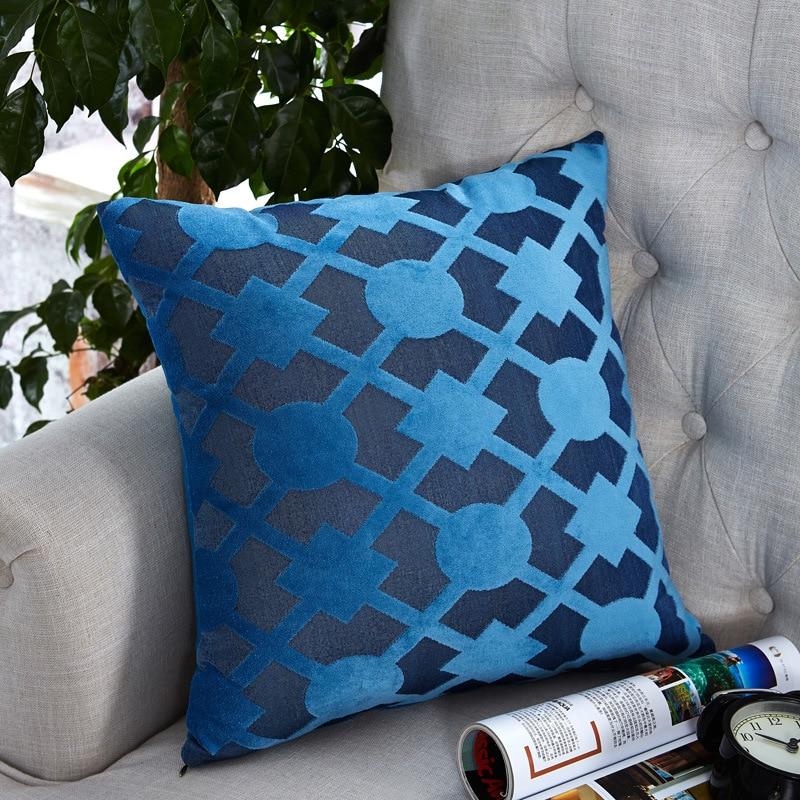 GIGIZAZA белый наволочки для Диван Home Decor бросок наволочки Suqare синий печать 45x45