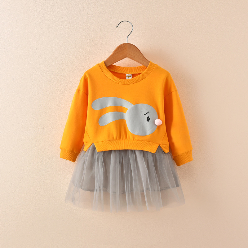 HTB1kQW7lBTH8KJjy0Fiq6ARsXXaM - 2018 New Spring Children Princess Clothing Casual Long Sleeve Baby Kids Dresses for Girls 1 2 3 4 5 6 Year Toddler Girls Dress