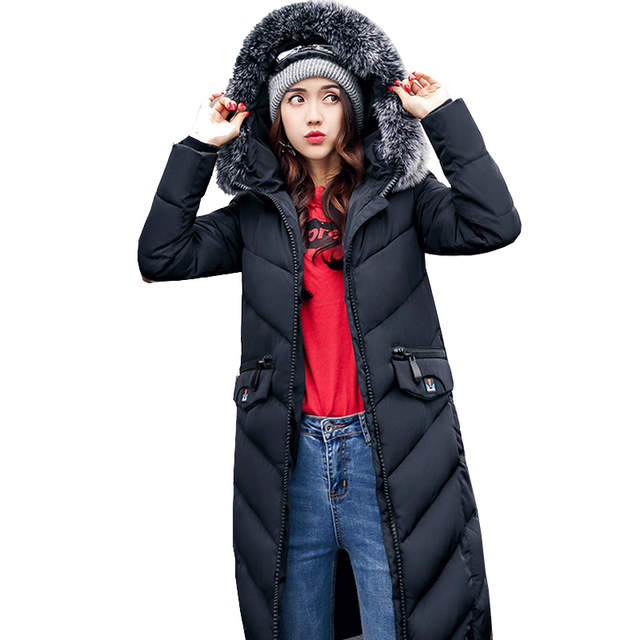 Online Shop Totrust Fur Hooded Winter Padded Jacket Women 2018 Long