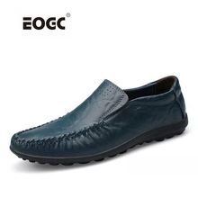 Handmade Genuine Leather Men Flats, Fashion Soft Shoes Loafers men Moccasins zapatos hombre