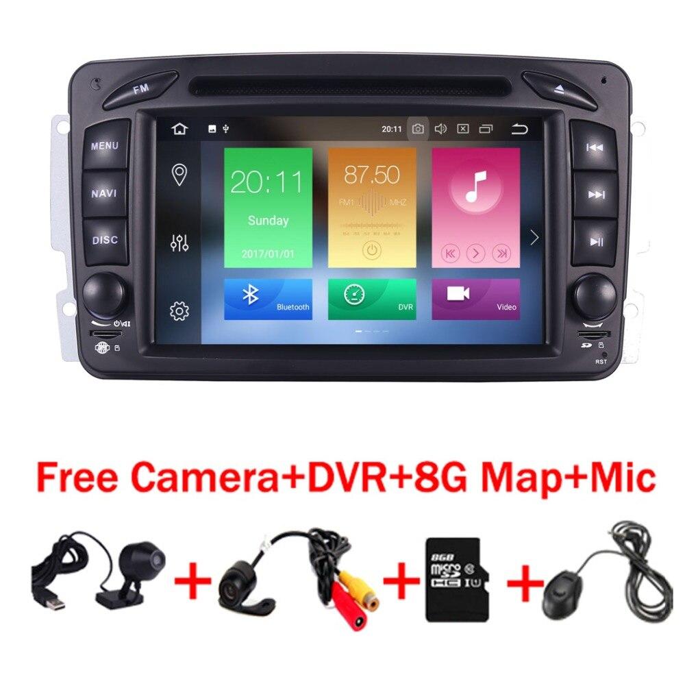 7 HD ANDROID 8.1 lecteur DVD de VOITURE Pour Mercedes Benz W209 W203 W168 ML W163 W463 Viano W639 Vito vaneo Wifi GPS BT Radio SD Carte