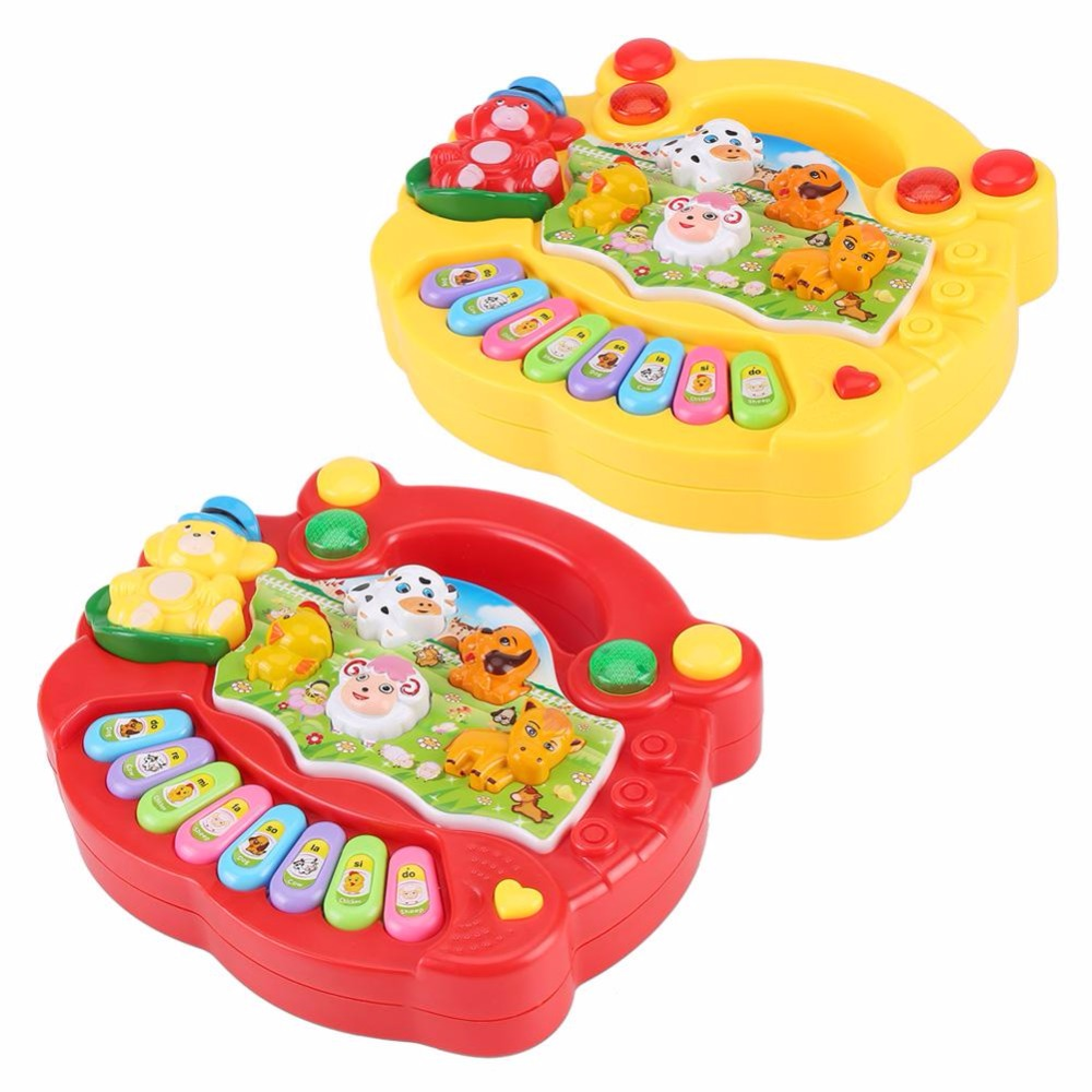 Hot Sale Baby Kids Musical Leker Pedagogisk Piano 2 Farger Animal - Læring og utdanning