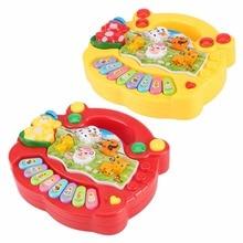 Penjualan panas bayi anak-anak musik mainan pendidikan piano 2 warna peternakan hewan perkembangan musik mainan piano mainan hadiah untuk anak-anak anak-anak