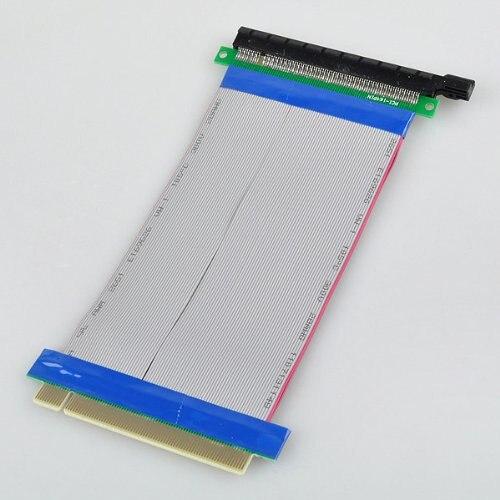 BSBL New PCI-Express PCI-E 16X Riser Card Ribbon Extender Extension 20cm Cable