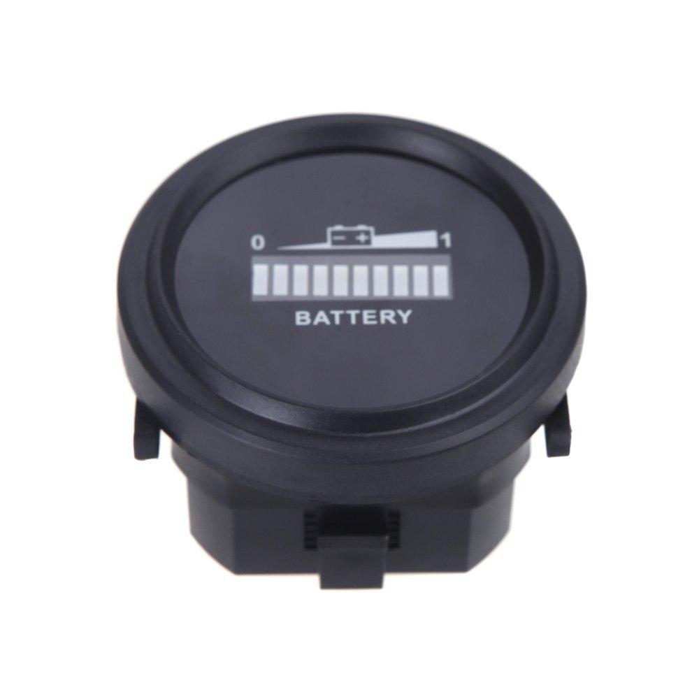 Digital LED <font><b>battery</b></font> status charge indicator <font><b>Battery</b></font> indicator <font><b>12V</b></font> / <font><b>24V</b></font> / 36V / 48V / 72V (Black)