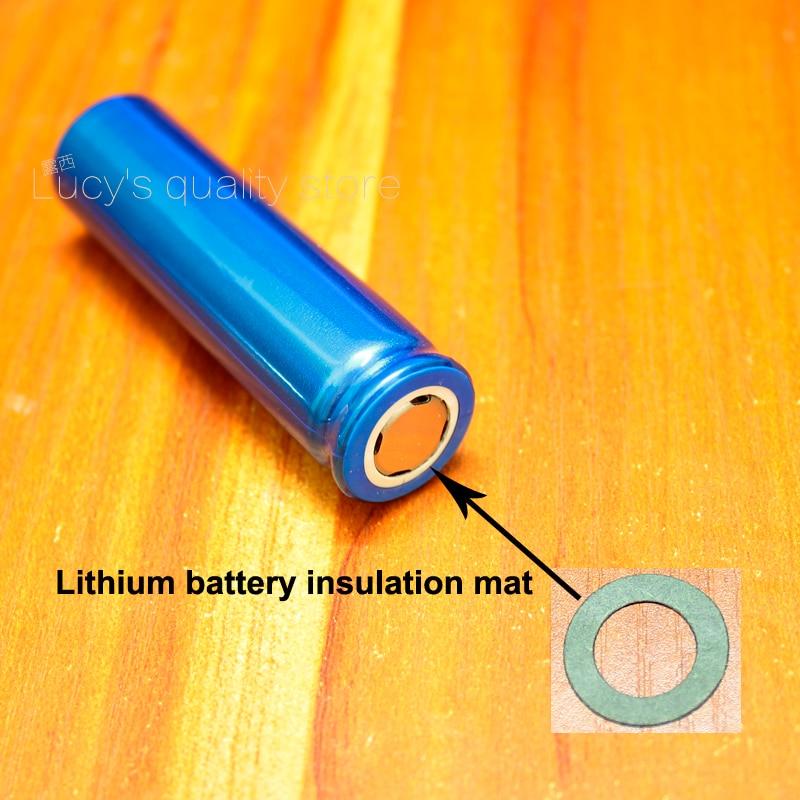 Купить с кэшбэком 100pcs/lot 18650 lithium battery anode hollow flat insulation gasket meson 18650 hollow barley paper insulation pad