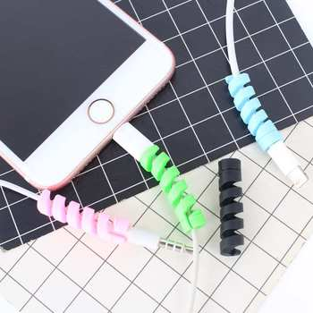 USB Cable Protector Colorful Cover For Iphone 11 Pro XR XS Max 6S SE 7 8 Plus X Case Charger Data Cable Earphone Accessories image