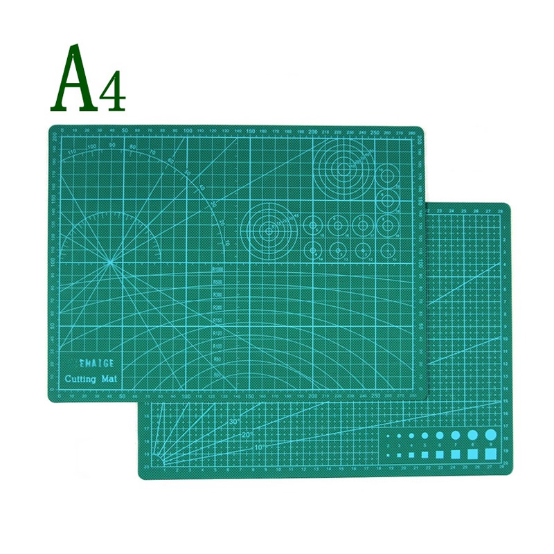 Pvc Self Healing Cutting Mat With Grid A4 Craft Dark Green Patchwork Tools Double Sided Cutting Pad Free Shipping