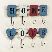 42cm LOVE HOME Cloth Hook Coat Hanger Home Decoration Wall Decor ZAKKA
