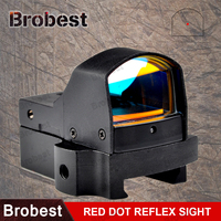 Brobest 4MOA Mini Red Dot Reflex Sight Airsoft Riflescope Tactical Optical Hunting Shooting Weapon Gun Scope AO3034