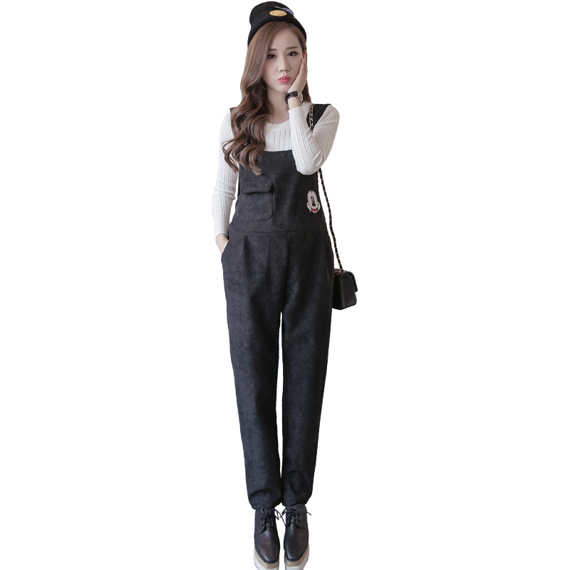 Pregnant Women Bib Spring Cartoon Prop Belly Legging Overalls Maternity Clothing Cashmere Trousers Pregnancy Corduroy Pants denim overalls for pregnant women maternity pregnancy jeans overalls pants maternity denim jumpsuit maternity pants clothes y696