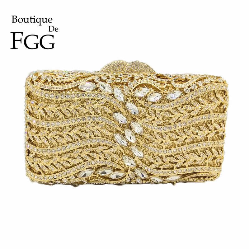 Dazzling Hollow Out Women Crystal Clutch Evening Bags Ladies Party Prom Dinner Handbags and Purse Wedding Clutches Bridal Bag gold plating floral flower hollow out dazzling crystal women bag luxury brand clutches diamonds wedding evening clutch purse