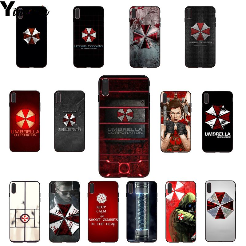 Yinuoda umbrella corporation DIY Painted Beautiful Phone Accessories Case for Apple iPhone 8 7 6 6S Plus X XS MAX 5 5S SE XR