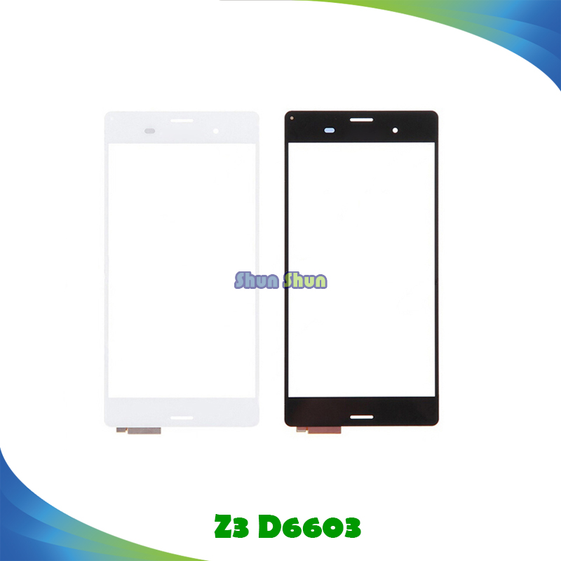 10pcs Z3 Touch Panel for Sony Xperia Z3 D6603 D6653 D6543 Touch Screen Digitizer Sensor Front Glass Lens Mobile Phone Parts