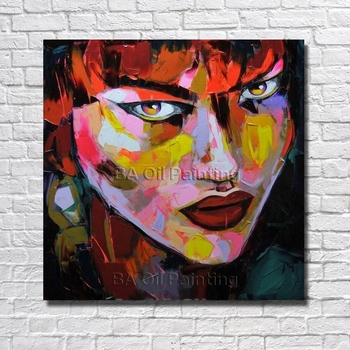 Free Shipping 100%hand-painted Oil Painting Beautiful Women Portrait Home Decoration Pictures For Living Room Wall No Framed