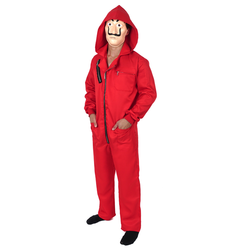 Salvador Dali Movie Costume Money Heist The House of Paper La Casa De Papel Cosplay Halloween Party Costumes