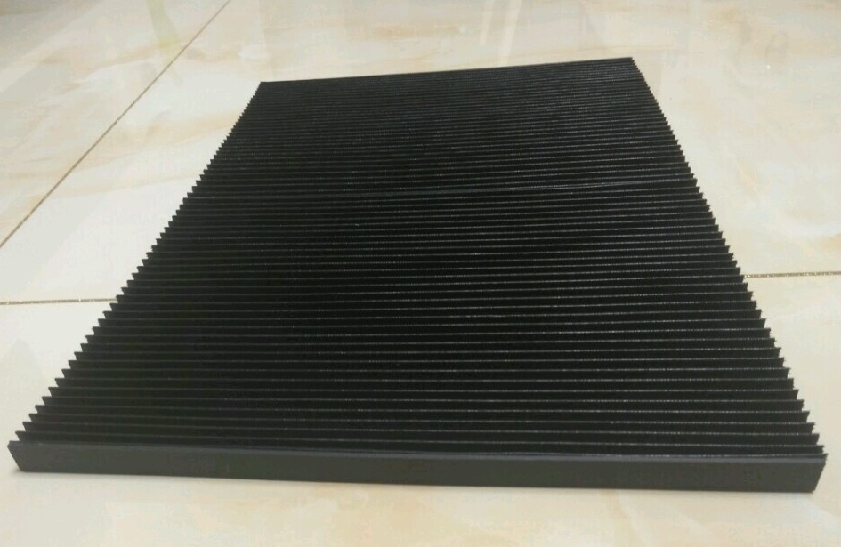 T7 type flat curtain protection cover for machine bellow Width300mm x height15mm x extending length 1400mm