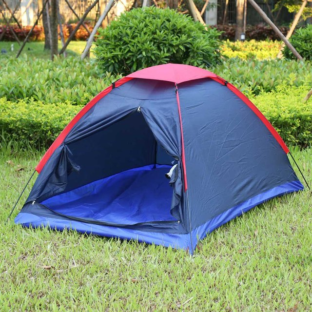 Double People Portable Outdoor C&ing Tent Nylon Waterproof Climbing Hiking Tents Kit with Carry Bag Sports & Double People Portable Outdoor Camping Tent Nylon Waterproof ...