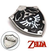 b7ec115cac5a Negro la leyenda de Zelda Twilight Princess hyliano escudo clásico iconos  esmalte pin botones broche amantes de pin de solapa
