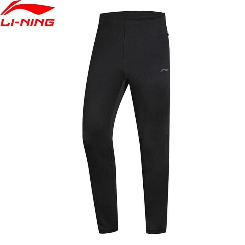Li-Ning Для мужчин кроссовки серии тренировочные штаны 100% полиэстер Regular Fit 3D установки внутри комфорт Спортивные штаны брюки AKYN237 MKY414