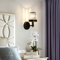 Amerykański kinkiet kryty salon kryształ tabeli światła sypialnia lampki nocne przejściach i korytarzach po drugie sypialnia salon TV tło LED kinkiet